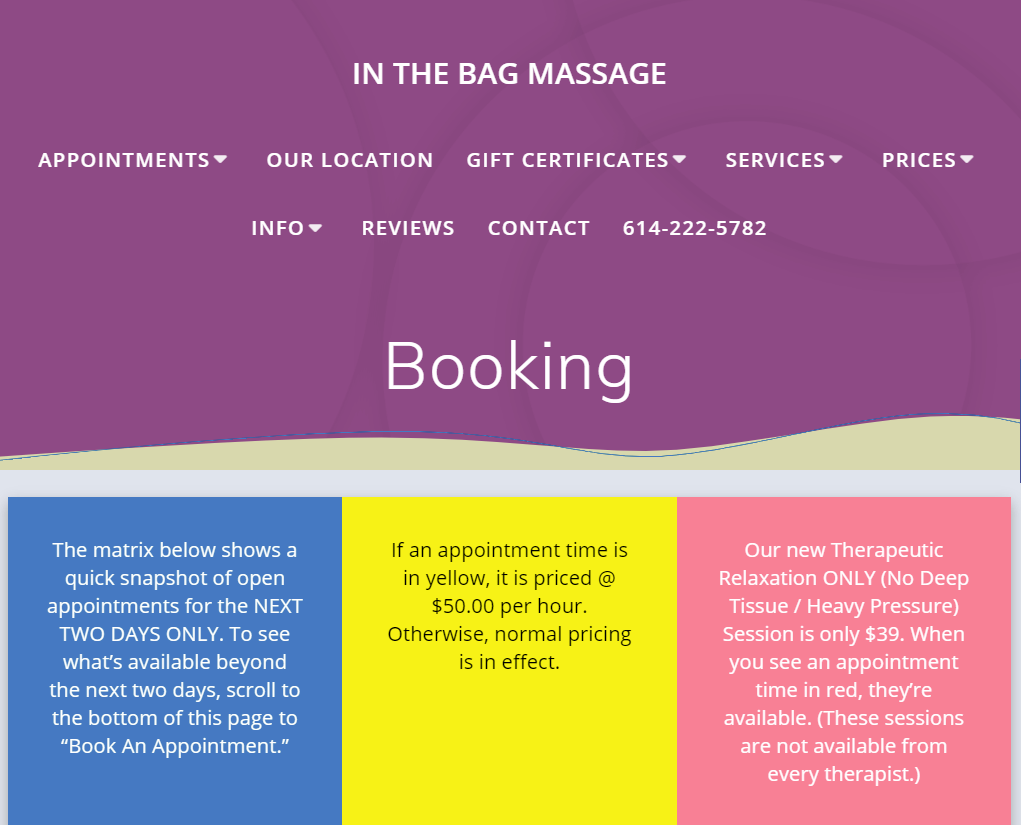 In the bag Massage